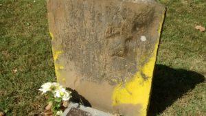 Chalked Gravestone