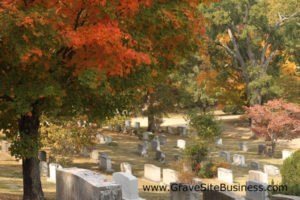 autumn cemetery